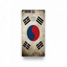 Coque Huawei P9 Silicone motif Drapeau Corée Du Sud Vintage