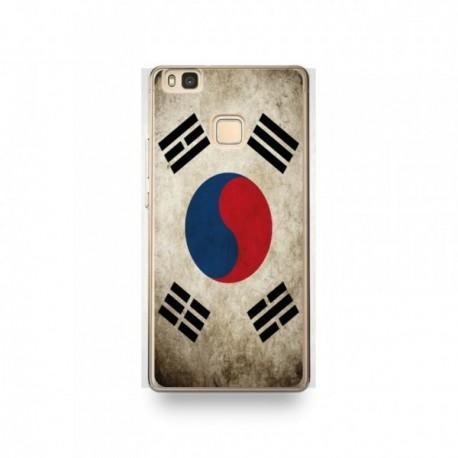 Coque Huawei P9 Lite Silicone motif Drapeau Corée Du Sud Vintage