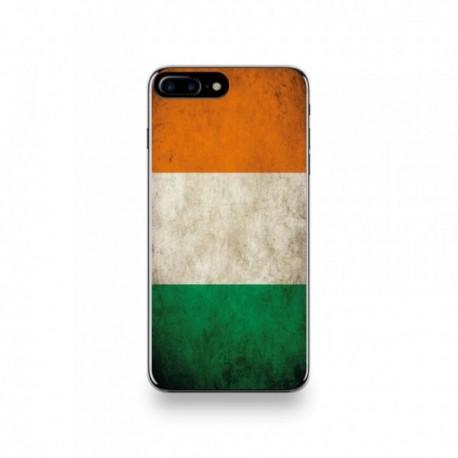 Coque  iPhone 7 Plus Silicone motif Drapeau Côte D'ivoire Vintage