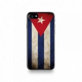Coque  iPhone 7 Silicone motif Drapeau Cuba Vintage