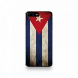 Coque  iPhone 7 Plus Silicone motif Drapeau Cuba Vintage