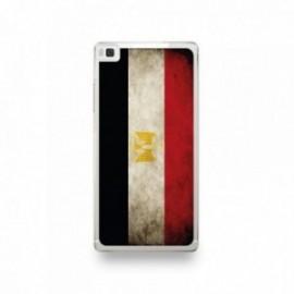 Coque Huawei P8 Silicone motif Drapeau Égypte Vintage