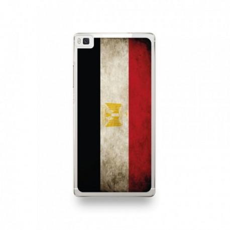 Coque Huawei P8 Lite Silicone motif Drapeau Égypte Vintage