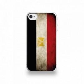 Coque  iPhone 4/4S Silicone motif Drapeau Égypte Vintage