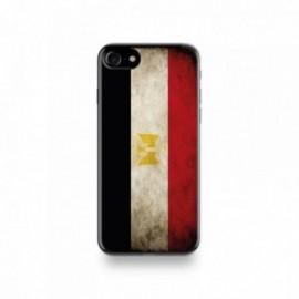 Coque  iPhone 7 Silicone motif Drapeau Égypte Vintage