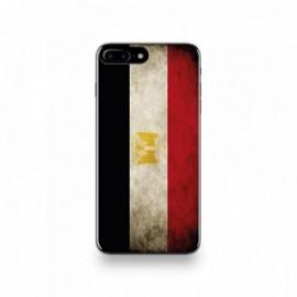 Coque  iPhone 7 Plus Silicone motif Drapeau Égypte Vintage