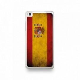 Coque Huawei P8 Silicone motif Drapeau Espagne Vintage