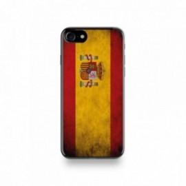 Coque  iPhone 7 Silicone motif Drapeau Espagne Vintage