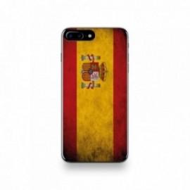 Coque  iPhone 7 Plus Silicone motif Drapeau Espagne Vintage