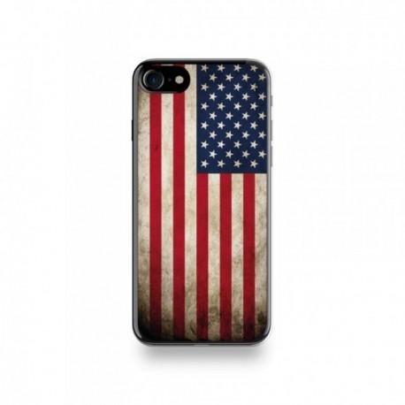 Coque  iPhone 7 Silicone motif Drapeau États-Unis Vintage