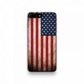 Coque  iPhone 7 Plus Silicone motif Drapeau États-Unis Vintage