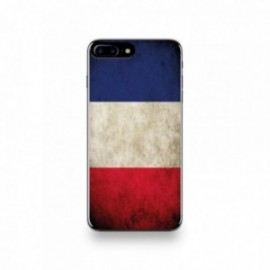 Coque  iPhone 7 Plus Silicone motif Drapeau France Vintage