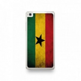 Coque Huawei P8 Silicone motif Drapeau Ghana Vintage