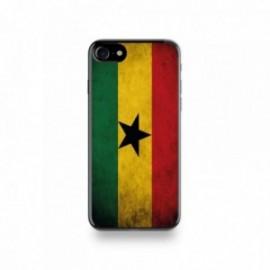 Coque  iPhone 7 Silicone motif Drapeau Ghana Vintage