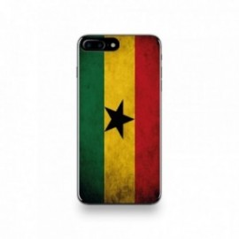 Coque  iPhone 7 Plus Silicone motif Drapeau Ghana Vintage