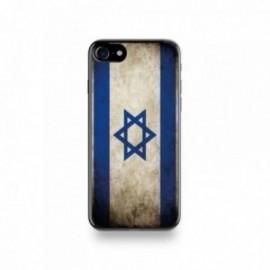 Coque  iPhone 7 Silicone motif Drapeau Israël Vintage