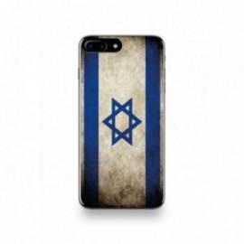 Coque  iPhone 7 Plus Silicone motif Drapeau Israël Vintage