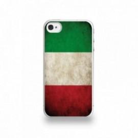 Coque  iPhone 4/4S Silicone motif Drapeau Italie Vintage