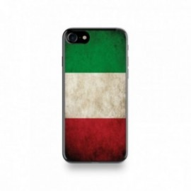 Coque  iPhone 7 Silicone motif Drapeau Italie Vintage