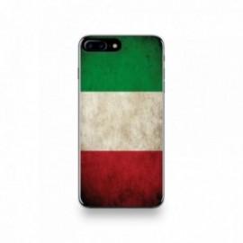Coque  iPhone 7 Plus Silicone motif Drapeau Italie Vintage
