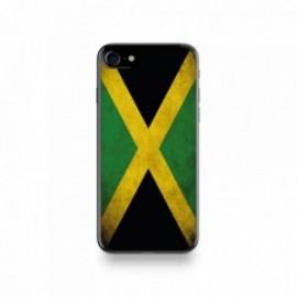 Coque  iPhone 7 Silicone motif Drapeau Jamaïque Vintage