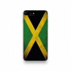 Coque  iPhone 7 Plus Silicone motif Drapeau Jamaïque Vintage