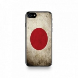 Coque  iPhone 7 Silicone motif Drapeau Japon Vintage