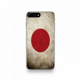 Coque  iPhone 7 Plus Silicone motif Drapeau Japon Vintage
