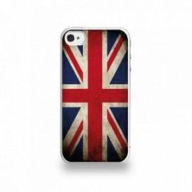 Coque  iPhone 4/4S Silicone motif Drapeau Royaume-Uni Vintage