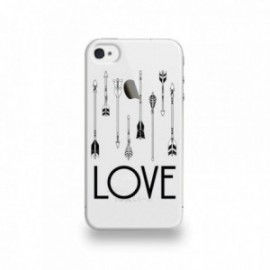 Coque  iPhone 4/4S Silicone motif Fleche Love