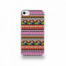 Coque  iPhone 4/4S Silicone motif Pattern Coloré