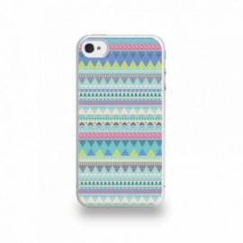 Coque  iPhone 4/4S Silicone motif Pattern Bleu