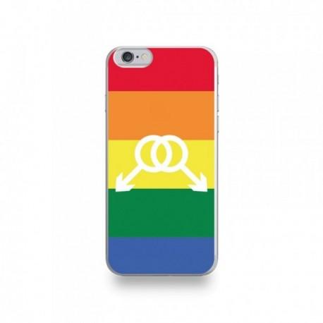 coque iphone 6 6s silicone motif symbole homme drapeau gay