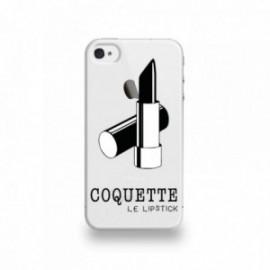 Coque  iPhone 4/4S Silicone motif Coquette Rouge À Lèvre
