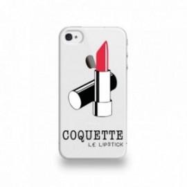 Coque  iPhone 4/4S Silicone motif Le Rouge à Lèvre Rouge