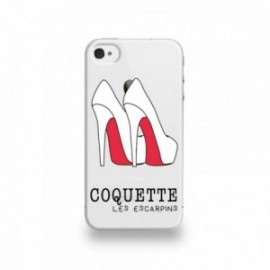 Coque  iPhone 4/4S Silicone motif Les Escarpins Rouge