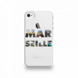 Coque  iPhone 4/4S Silicone motif Marseille