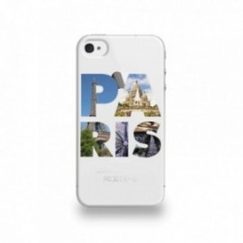 Coque  iPhone 4/4S Silicone motif Paris