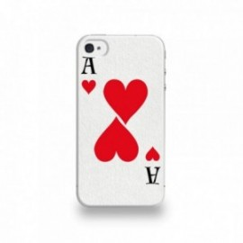 Coque  iPhone 4/4S Silicone motif As de Coeur