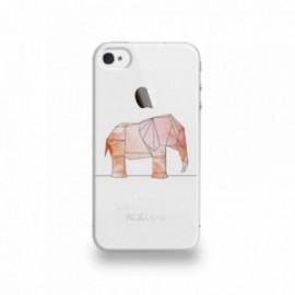 Coque  iPhone 4/4S Silicone motif Éléphant Géométrique