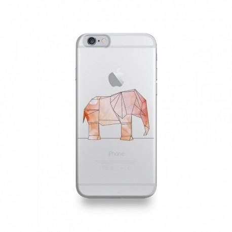 Coque iPhone 6/6S Silicone motif Éléphant Géométrique