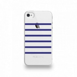 Coque  iPhone 4/4S Silicone motif Marinière Beu