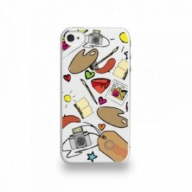 Coque  iPhone 4/4S Silicone motif Art Français