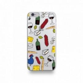 Coque  iPhone 6/6S Silicone motif Gastronomie Française Apéro