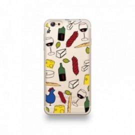 Coque iPhone 6 plus / 6S plus Silicone motif Gastronomie Française Apéro