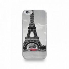 Coque  iPhone 6/6S Silicone motif 4L et la Tour Eiffel