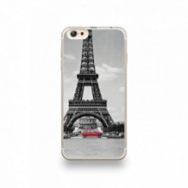 Coque iPhone 6 plus / 6S plus Silicone motif 4L et la Tour Eiffel