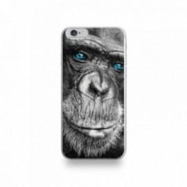 Coque  iPhone 6/6S Silicone motif Gorille aux Yeux Bleus