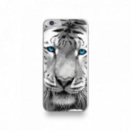 Coque  iPhone 6/6S Silicone motif Tigre aux Yeux Bleus