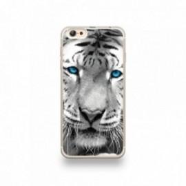 Coque iPhone 6 plus / 6S plus Silicone motif Tigre aux Yeux Bleus